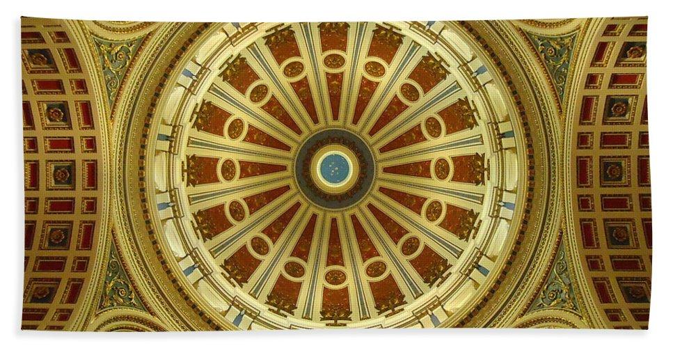 Joseph Skompski Hand Towel featuring the photograph Rotunda by Joseph Skompski