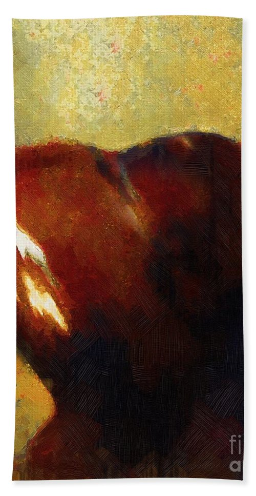 Heart Hand Towel featuring the painting Rough And Ready For Love by RC DeWinter