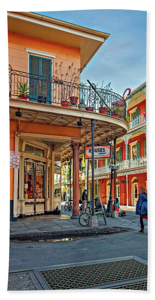 French Quarter Bath Sheet featuring the photograph Rouses Market by Steve Harrington