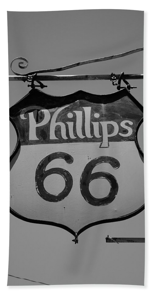66 Hand Towel featuring the photograph Route 66 - Phillips 66 Petroleum by Frank Romeo