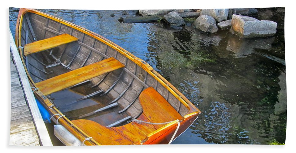 Photography Hand Towel featuring the photograph Row Boat by Mike Reilly