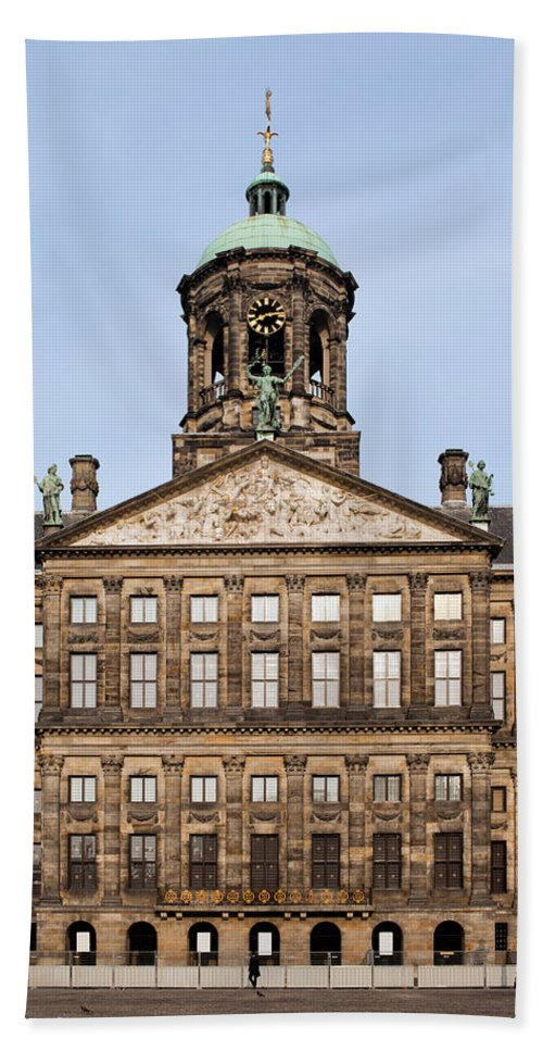 Royal Hand Towel featuring the photograph Royal Palace In Amsterdam by Artur Bogacki