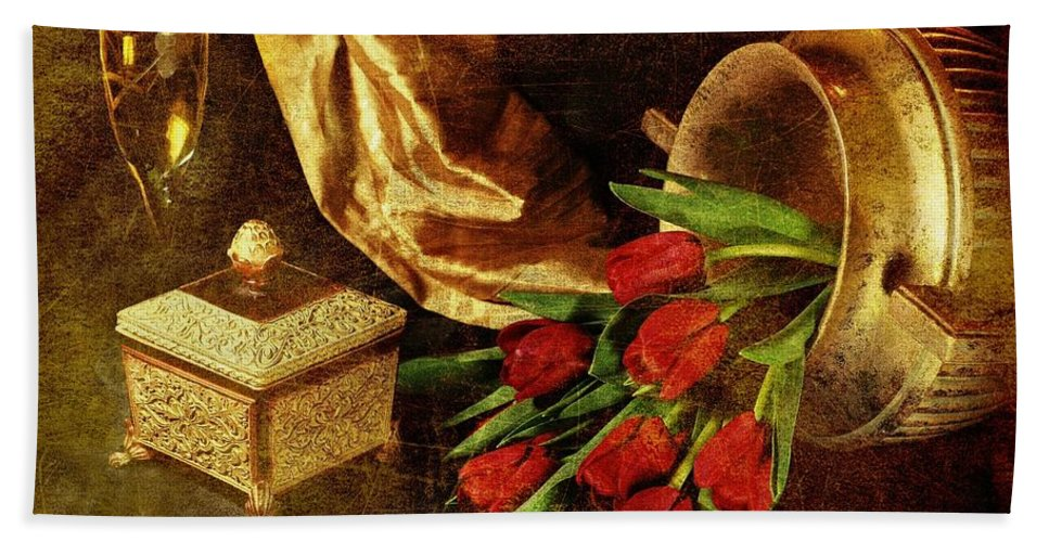 Classic Table Top Still Life Hand Towel featuring the photograph Royalty by Diana Angstadt