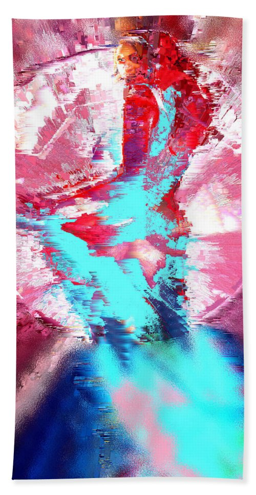 Ruby Hand Towel featuring the digital art Ruby by Seth Weaver