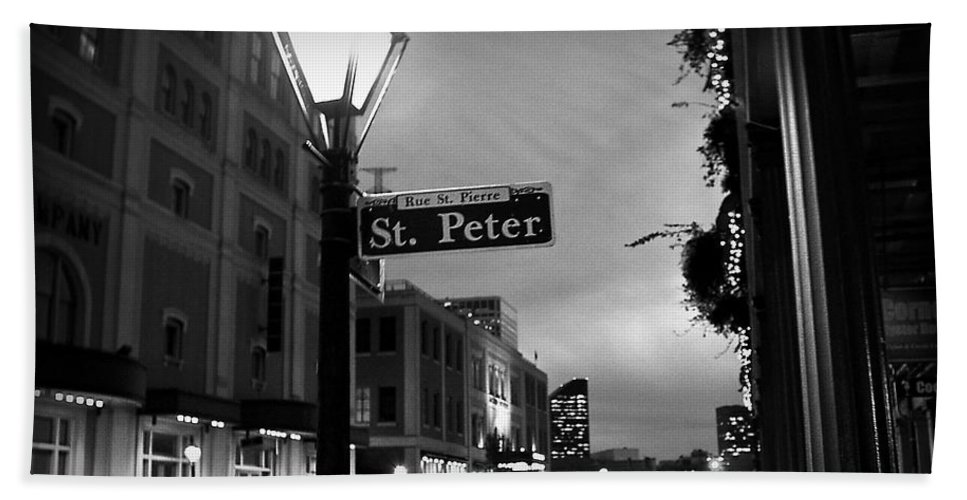 Black & White Hand Towel featuring the photograph Rue St. Pierre by Scott Pellegrin