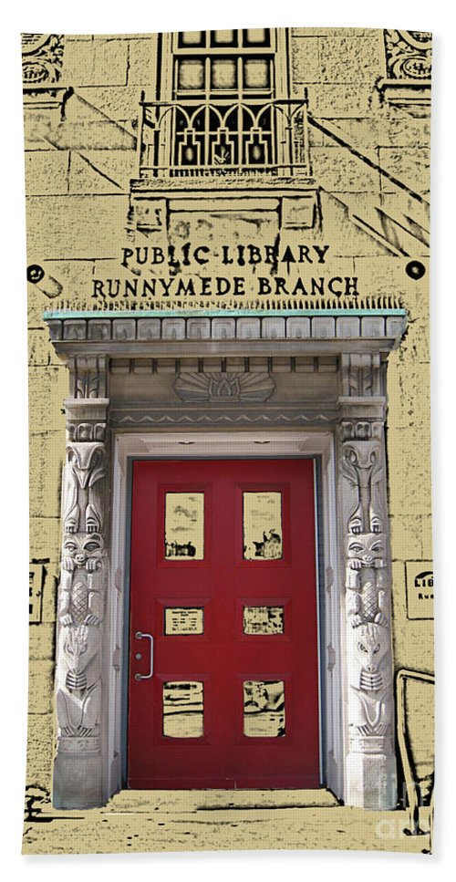 Toronto Hand Towel featuring the photograph Runnymede Library by Nina Silver