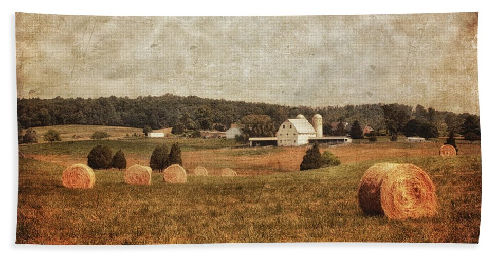 Barn Bath Sheet featuring the photograph Rural America by Kim Hojnacki