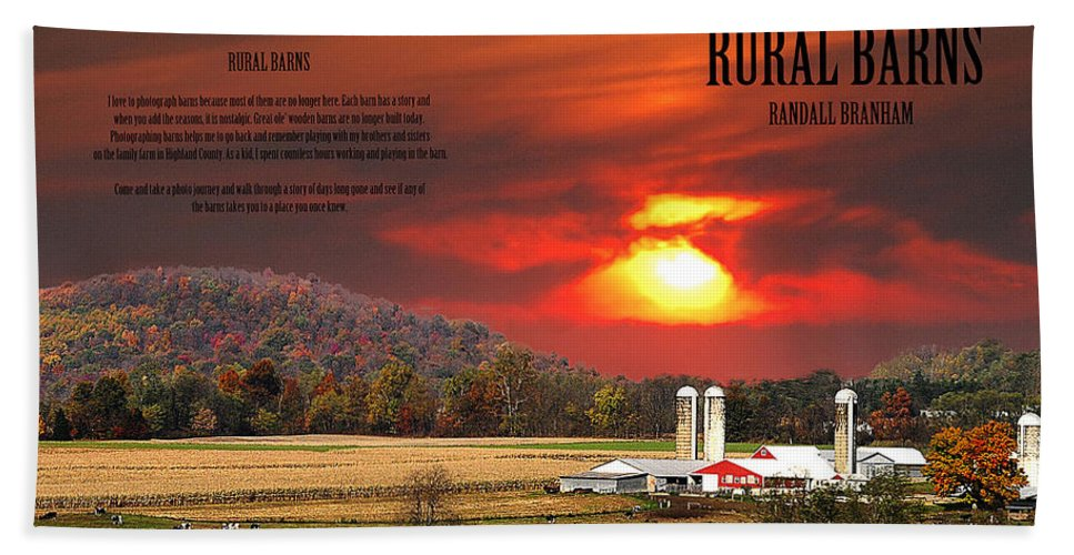 Rural Barns Hand Towel featuring the photograph Rural Barns My Book Cover by Randall Branham