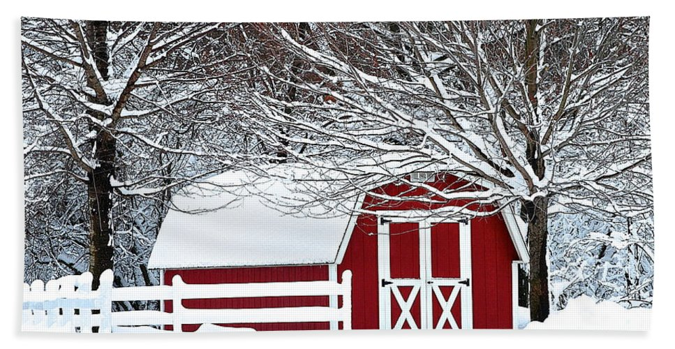 Farm Bath Sheet featuring the photograph Rural Living by Frozen in Time Fine Art Photography