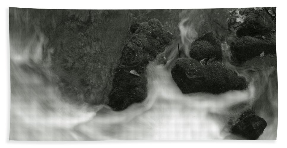 Bath Sheet featuring the photograph Rush Around The Rocks by Michael Kirk