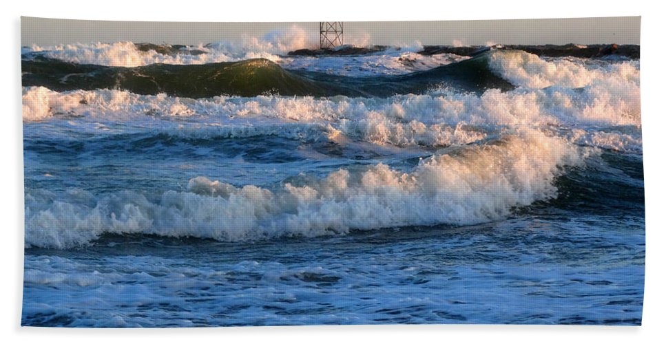 Sunrise Hand Towel featuring the photograph Rush Hour On Cape Cod by Dianne Cowen