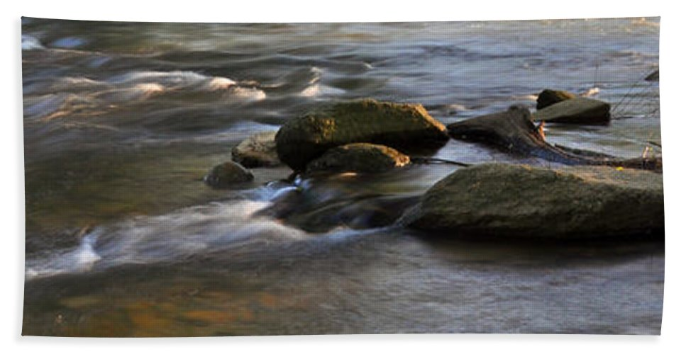 Nature Hand Towel featuring the photograph Rushing by Kay Lovingood