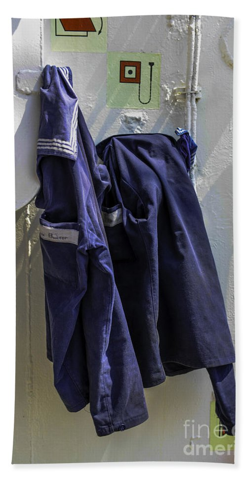 Russian Hand Towel featuring the photograph Russian Tall Ship Uniforms by Dale Powell