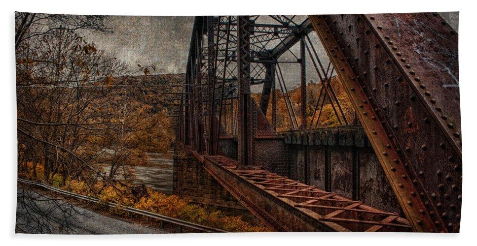 Bridge Hand Towel featuring the photograph Rusted Bridge by David B Kawchak Custom Classic Photography