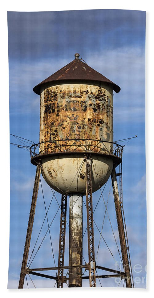 Pennsylvania Bath Sheet featuring the photograph Rusted Water Tower by John Greim