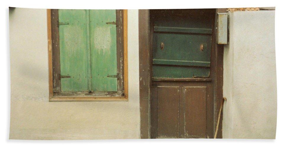 Wooden Door Bath Sheet featuring the photograph Rustic Door by Christine Jepsen