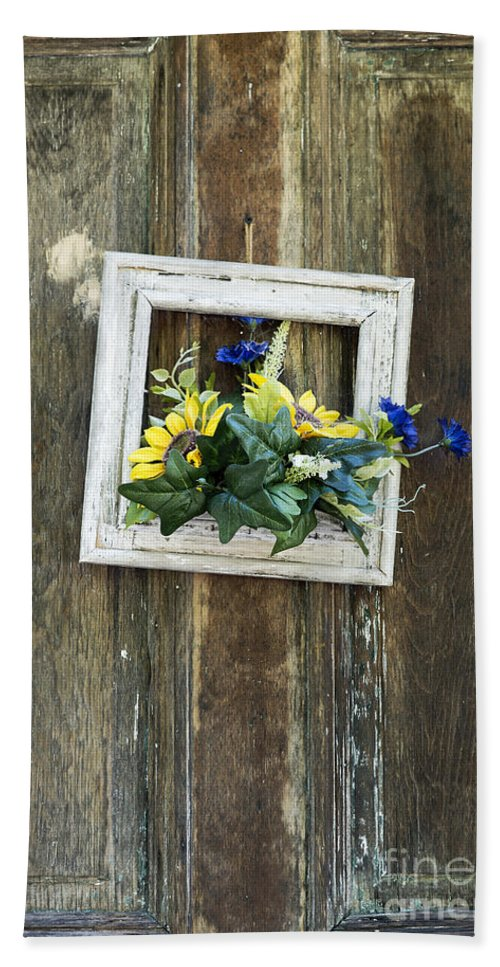 Decoration Hand Towel featuring the photograph Rustic Door by John Greim