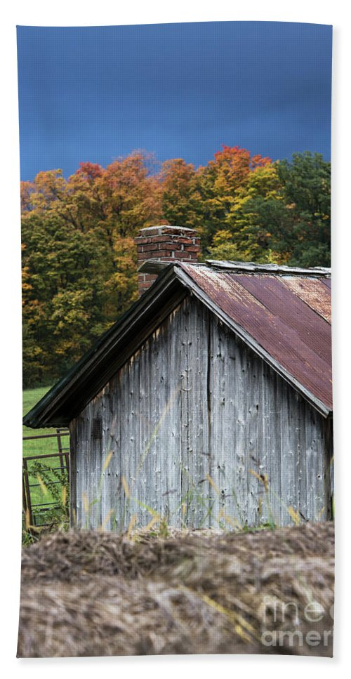 America Hand Towel featuring the photograph Rustic Farm Shed by John Greim