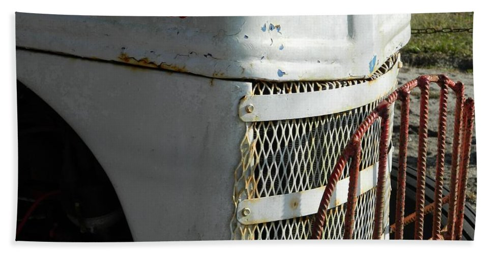 Tractor Hand Towel featuring the photograph Rustic Ford Work Horse by George Pedro