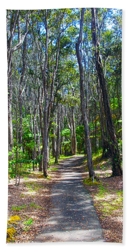 Hawaii Hand Towel featuring the photograph Rustic Trail by John Dauer