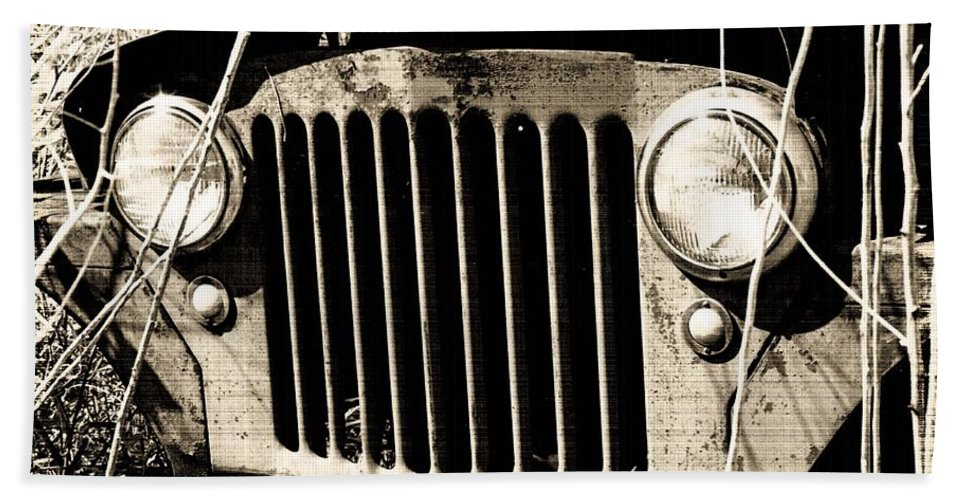 Truck Hand Towel featuring the photograph Rusty Relic - The Forgotten 02 by Pamela Critchlow