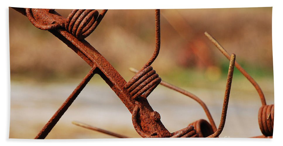 Rust Hand Towel featuring the photograph Rusty Tines by Mary Carol Story