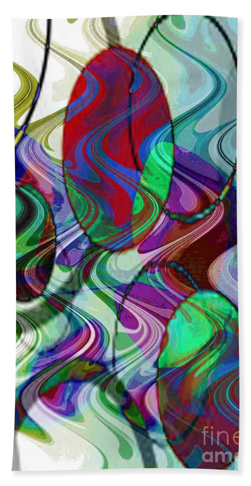 Digital Art Abstract Hand Towel featuring the digital art Rythem Of Change by Yael VanGruber