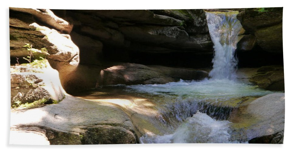 Fall Bath Sheet featuring the photograph Sabbaday Falls Gorge by Christiane Schulze Art And Photography