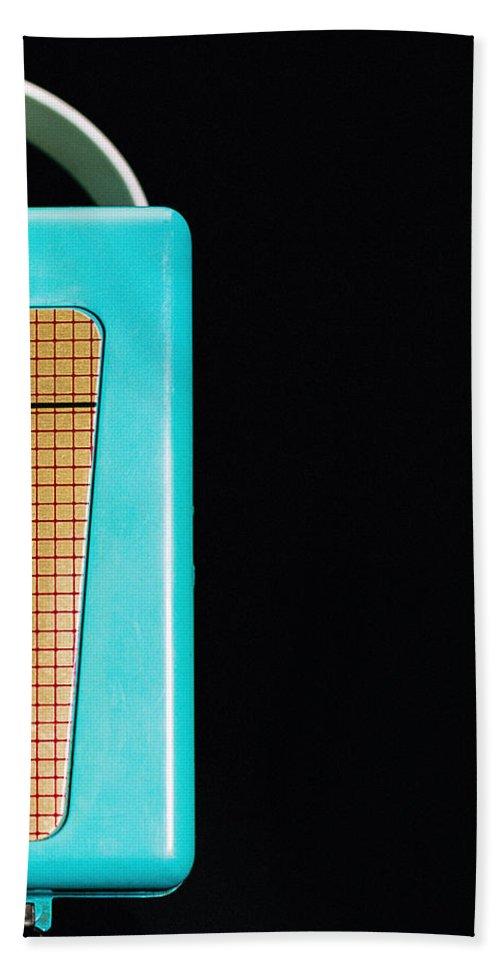Aqua Bath Towel featuring the photograph Sabre 620 Camera by Jon Woodhams
