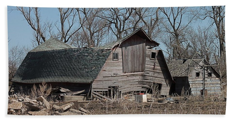Old Barn Hand Towel featuring the photograph Sad Pair by Wayne Williams