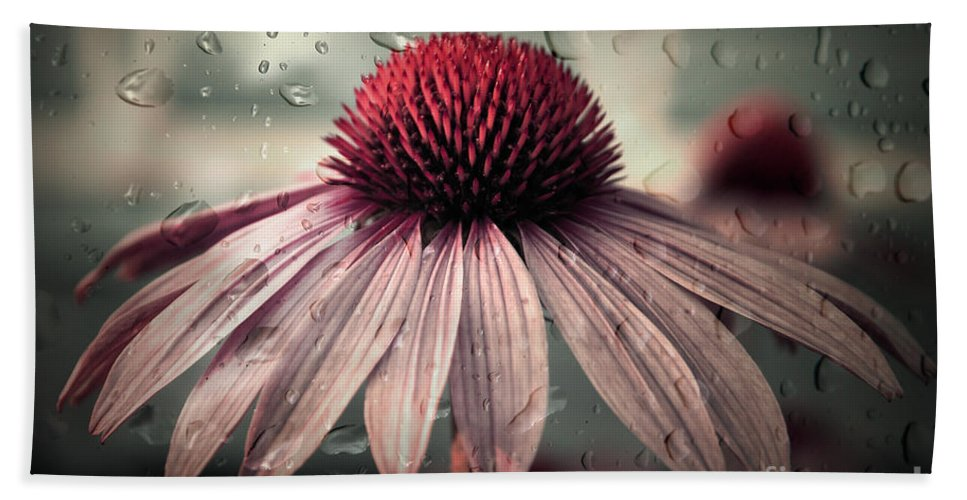Flower Hand Towel featuring the photograph Sad Solitude by Aimelle