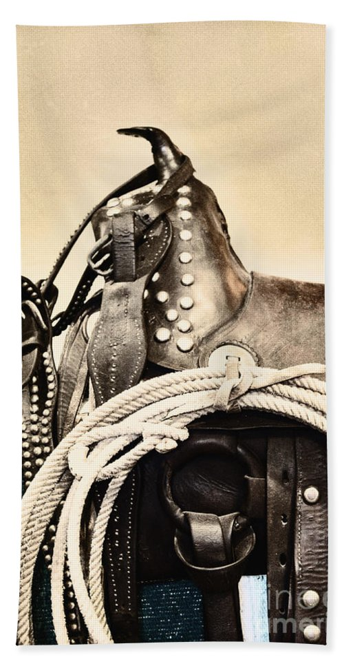 Saddle Hand Towel featuring the photograph Saddle by Margie Hurwich