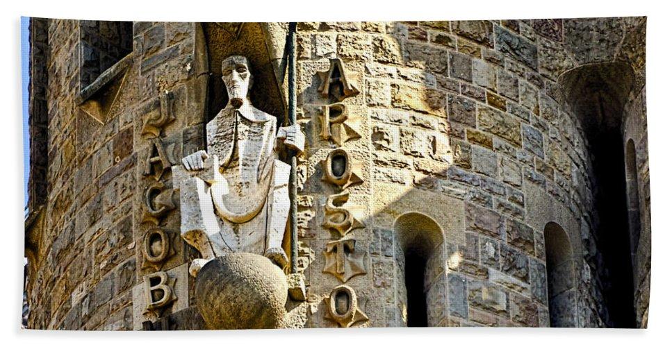 Sagrada Familia Bath Sheet featuring the photograph Sagrada Familia - Barcelona Spain by Jon Berghoff