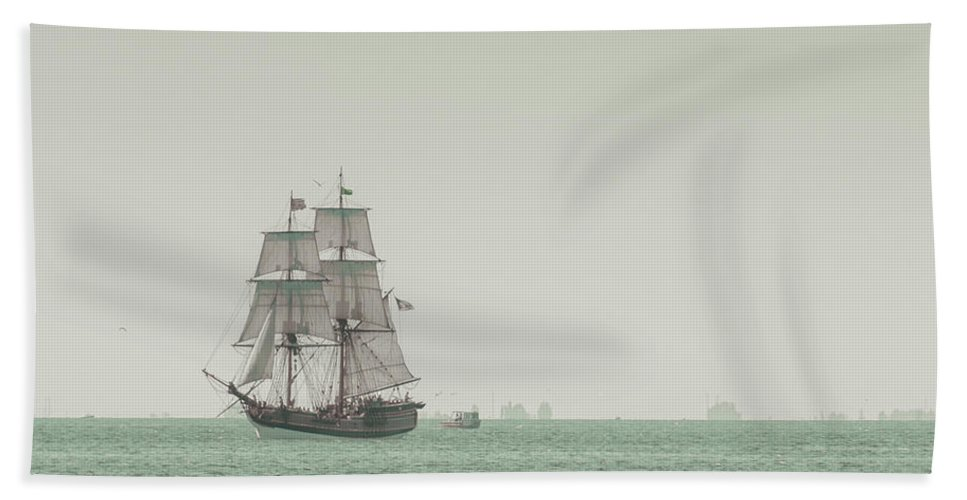 Art Bath Towel featuring the photograph Sail Ship 1 by Lucid Mood