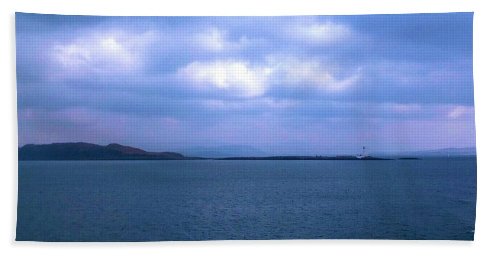 The Hebrides Islands Hand Towel featuring the photograph Sailing Around The Hebrides And Mull by Joan-Violet Stretch