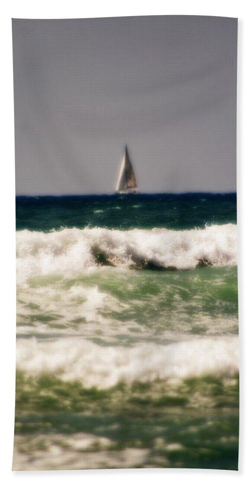 California Bath Sheet featuring the photograph Sailing In California by Doc Braham