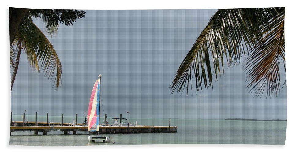 Sailing Boat Bath Sheet featuring the photograph Sailing Key Largo by Christiane Schulze Art And Photography