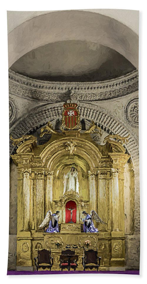 Altar Bath Sheet featuring the photograph Saint Joseph Cathedral by Maria Coulson