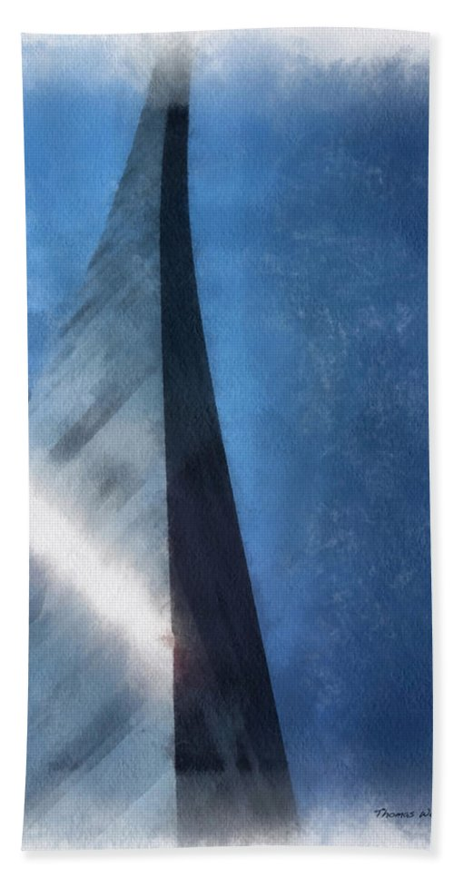 Midwest Hand Towel featuring the photograph Saint Louis Arch Photo Art 01 by Thomas Woolworth