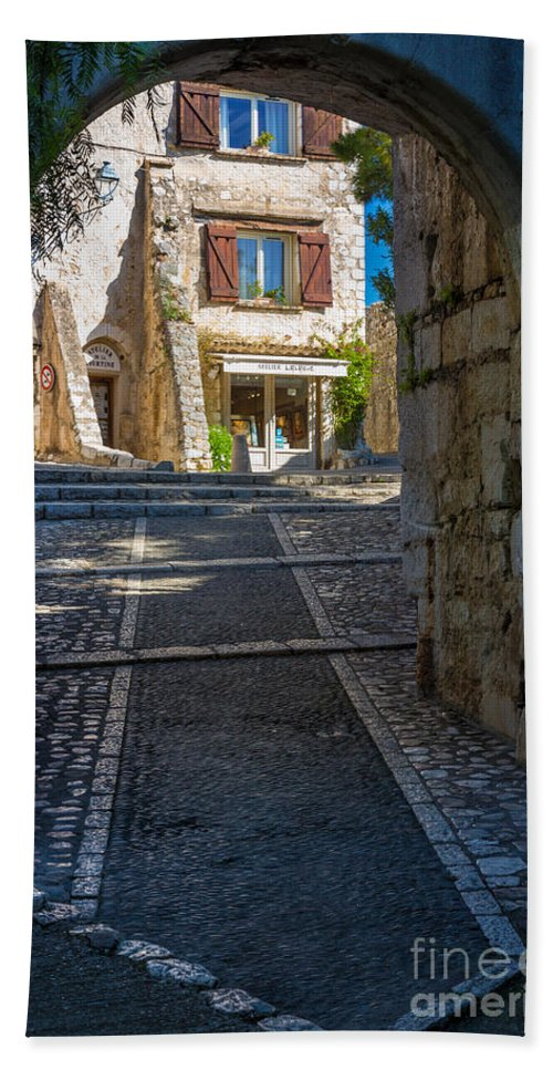 Alpes-maritimes Bath Sheet featuring the photograph Saint Paul Entrance by Inge Johnsson