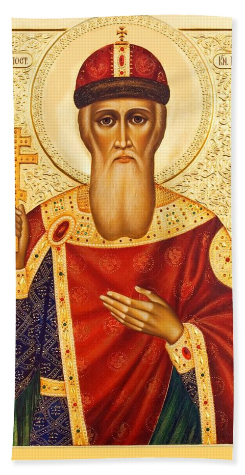 Saint Vladimir Bath Sheet featuring the photograph Saint Vladimir by Munir Alawi