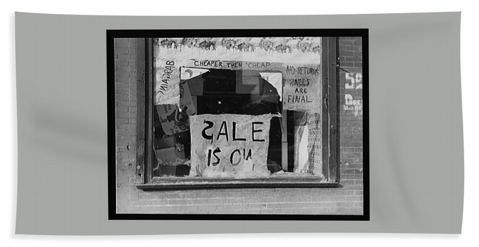 Sale Is On Hand Towel featuring the photograph Sale Is On by Bill Cannon