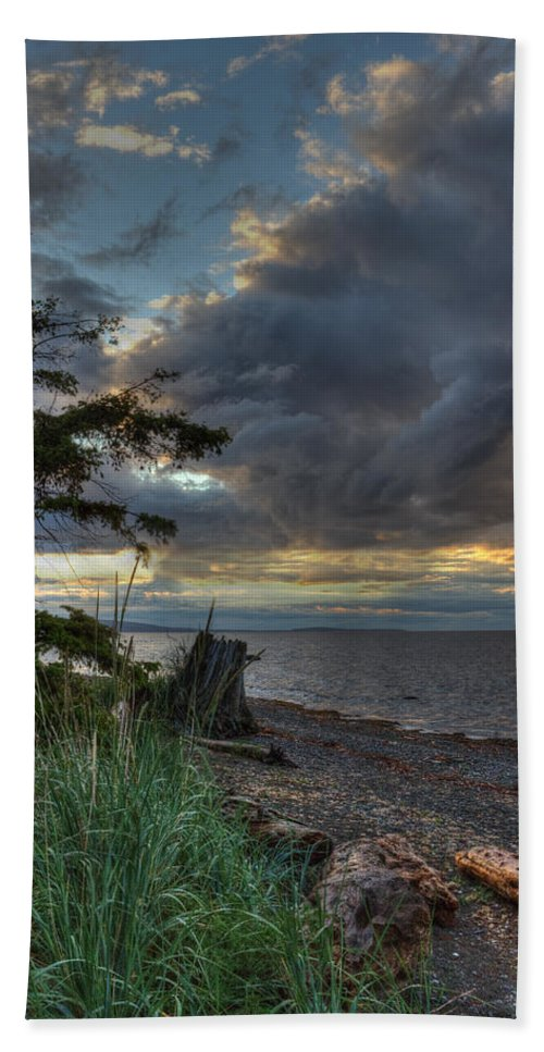 Water Bath Sheet featuring the photograph Salish Storm by Randy Hall