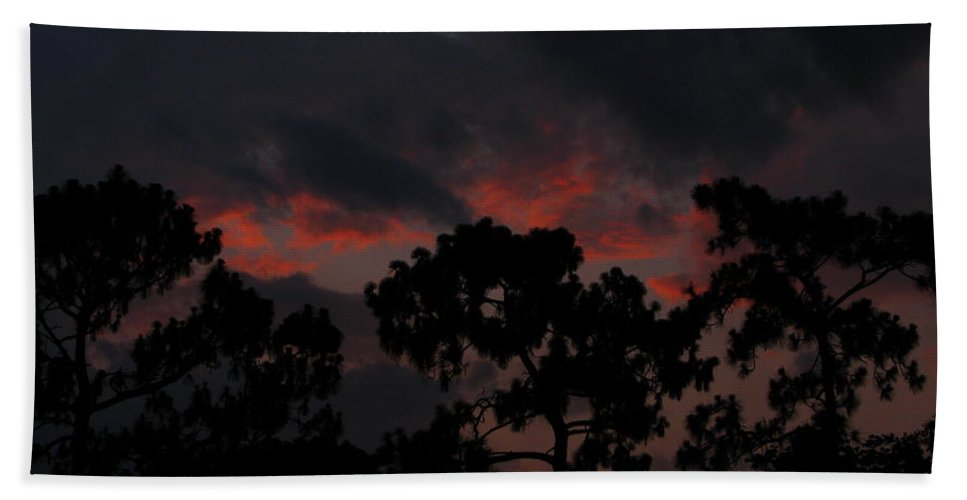 Art For The Wall...patzer Photography Hand Towel featuring the photograph Salmon Sunset by Greg Patzer