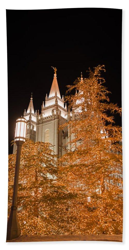 Temple Hand Towel featuring the photograph Salt Lake Temple by Dustin LeFevre