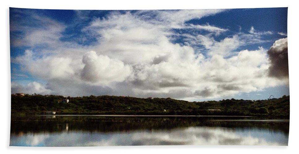 Anguilla Bath Sheet featuring the photograph Salt Pond Mirror by Kristin Bourne