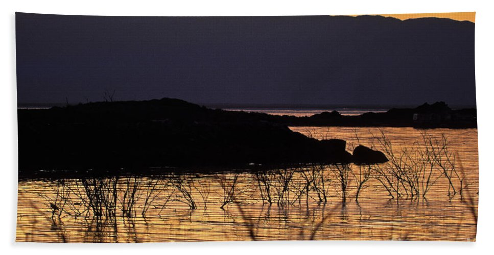 Salton Sea Bath Sheet featuring the photograph Salton Sea by Howard Stapleton