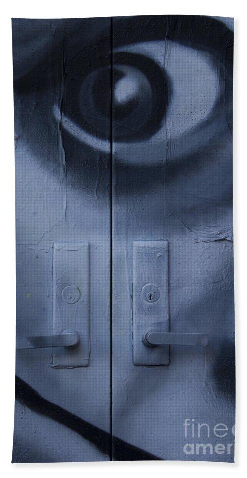Salvador Dali Bath Sheet featuring the photograph Salvador Dali Doors Graffiti Art by Nola Lee Kelsey