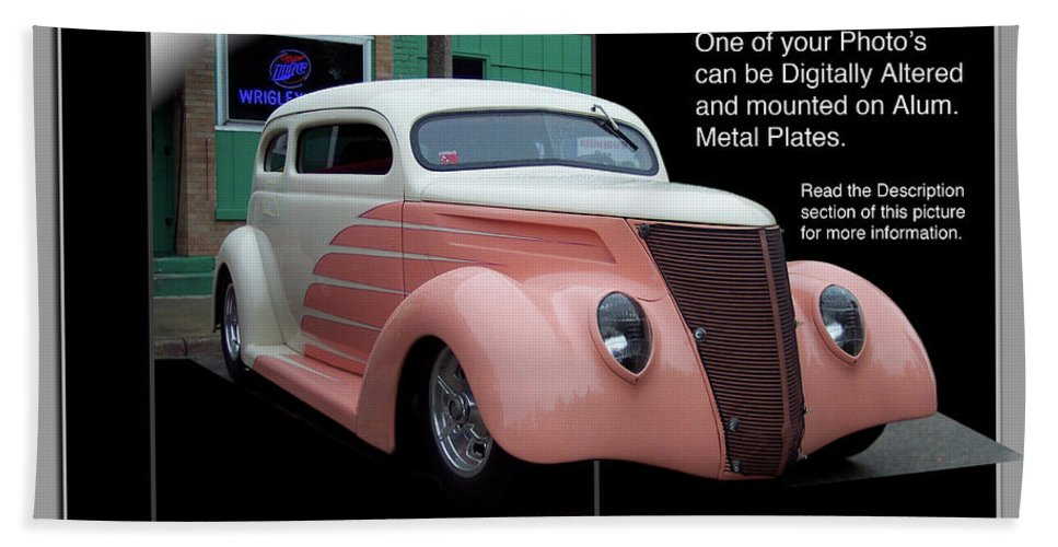 Out Of Bounds Bath Sheet featuring the photograph Sample Car Artwork Readme by Thomas Woolworth