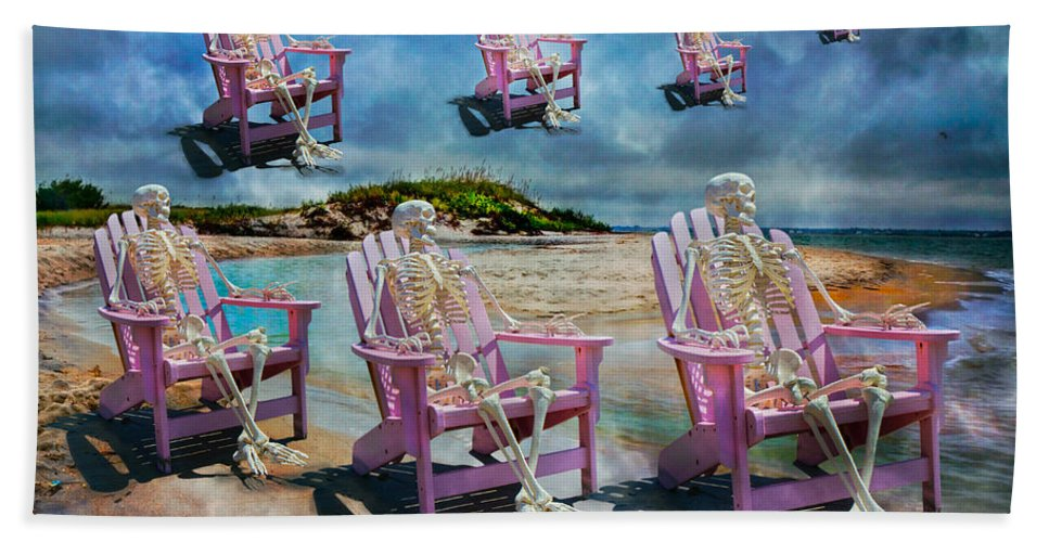 Skeleton Hand Towel featuring the photograph Sam's Imagination by Betsy Knapp